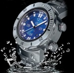 Blue divers watch dial