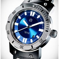 German divers watch blue dial